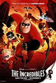 Samuel L. Jackson, Holly Hunter, Jason Lee, Craig T. Nelson, Brad Bird, Sarah Vowell, and Spencer Fox in The Incredibles (2004)
