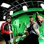 Antonio Banderas and Robert Rodriguez in Spy Kids 3: Game Over (2003)