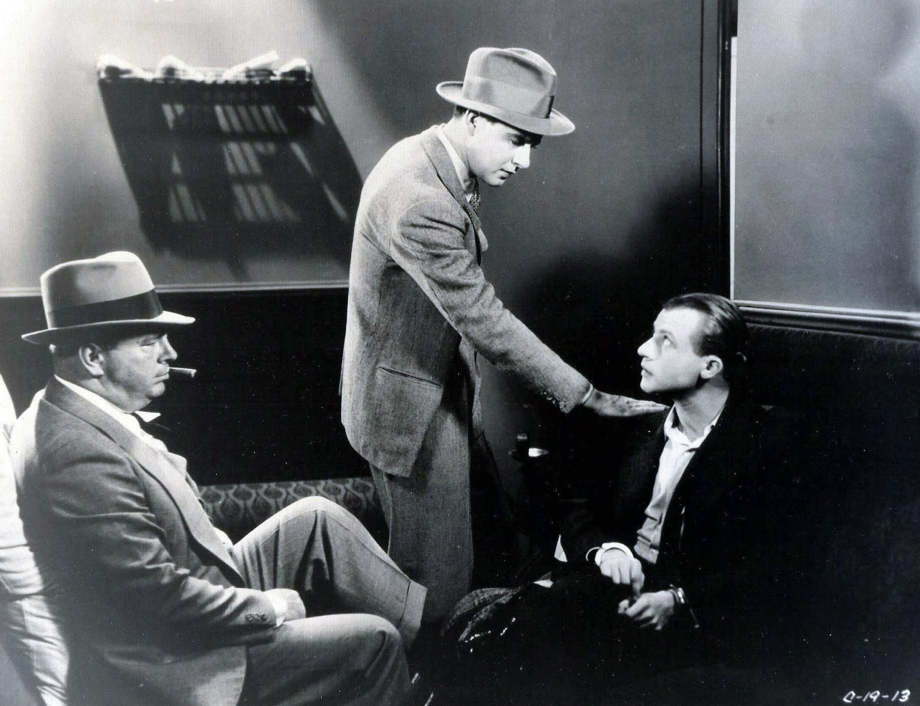 Dwight Frye, Ben Lyon, and William V. Mong in By Whose Hand? (1932)