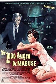 Fritz Lang, Dawn Addams, and Peter van Eyck in Die 1000 Augen des Dr. Mabuse (1960)