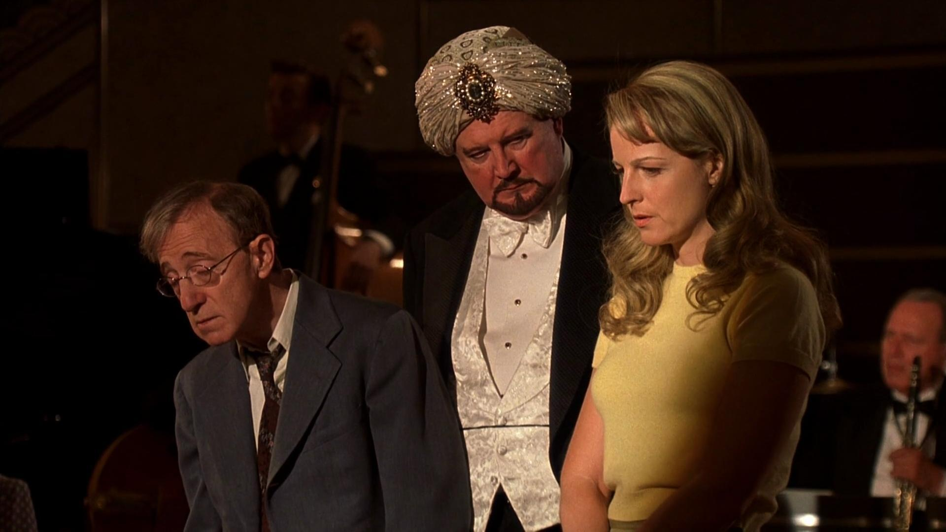 Woody Allen, Helen Hunt, and David Ogden Stiers in The Curse of the Jade Scorpion (2001)