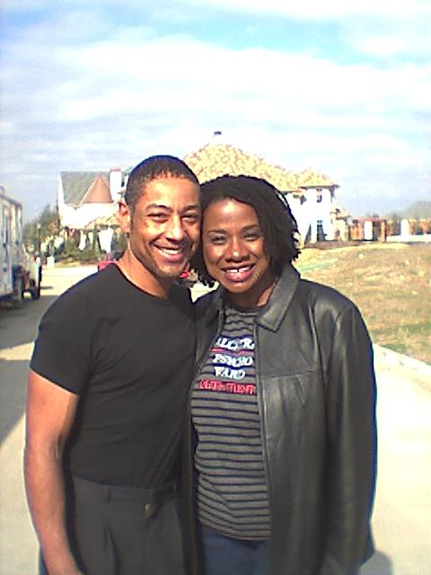 Summer Selby with Giancarlo Esposito on set of A Killer Within