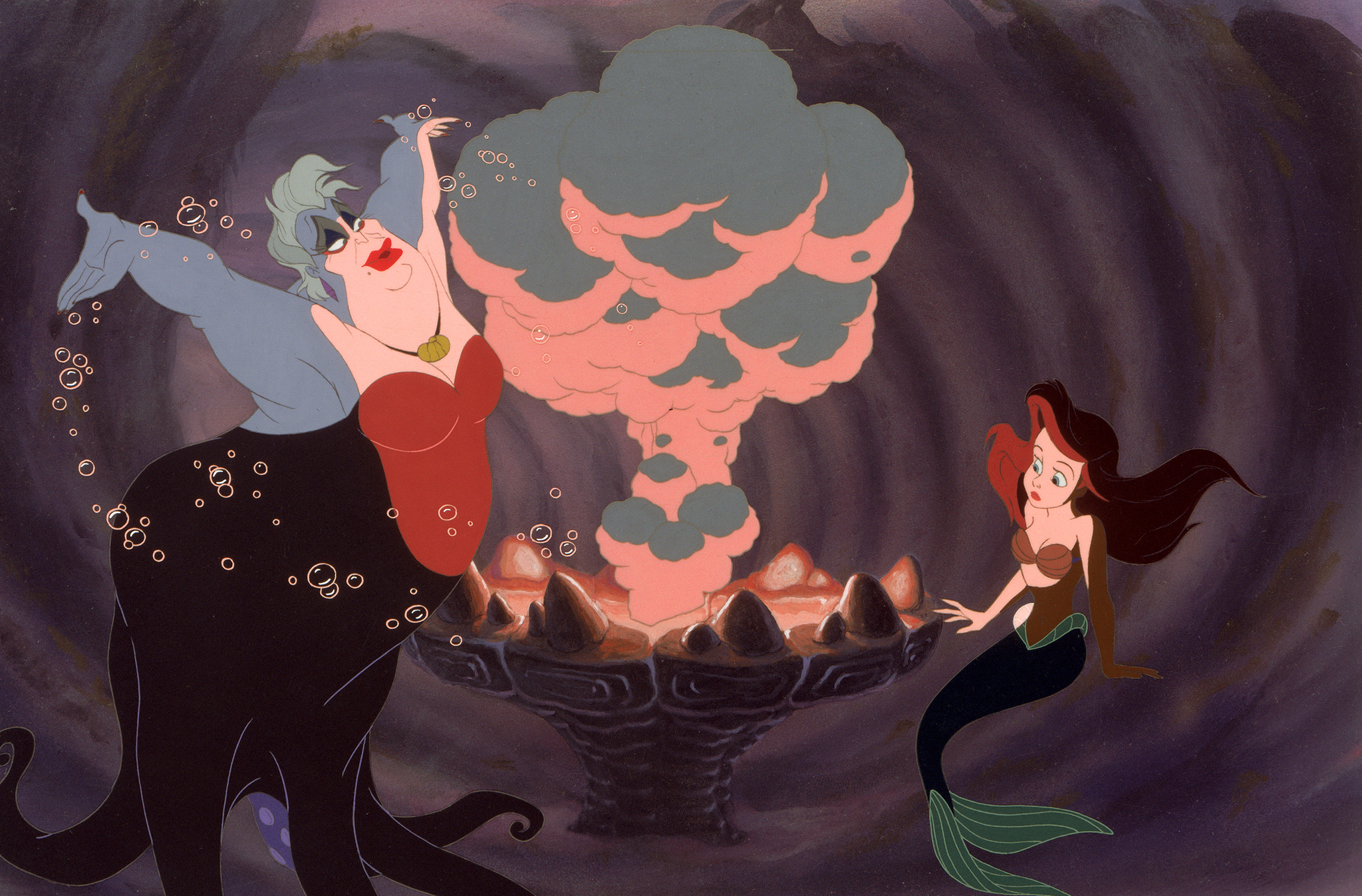 Jodi Benson and Pat Carroll in The Little Mermaid (1989)
