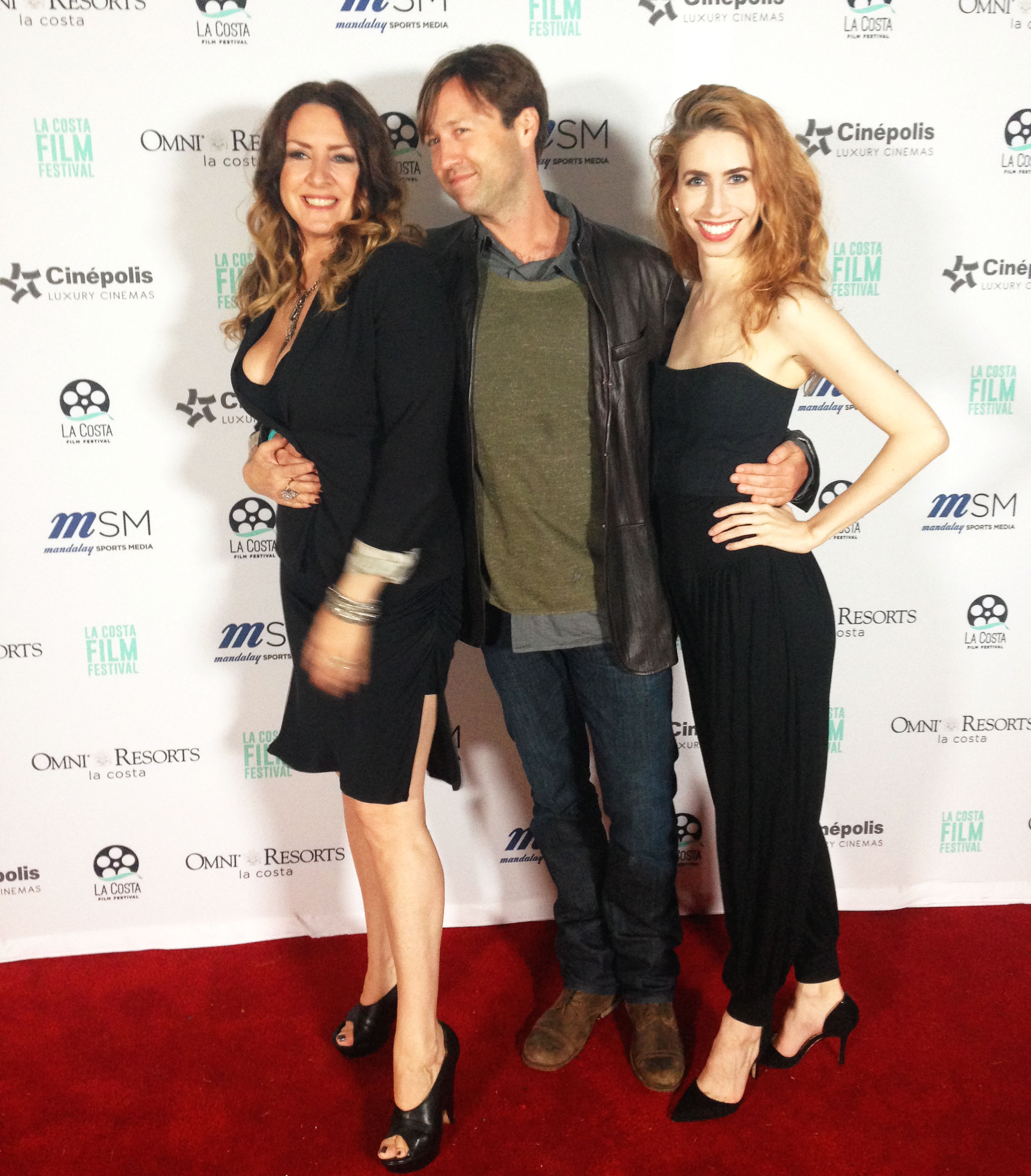 Joely Fisher, Russell Brown and Grace Folsom at the La Costa Film Festival