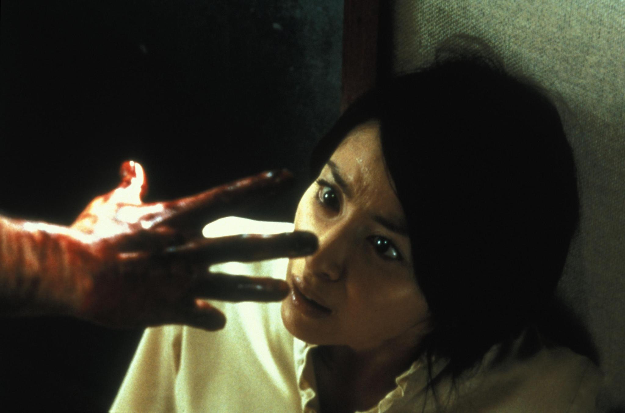 Megumi Okina and Takako Fuji in Ju-on (2002)