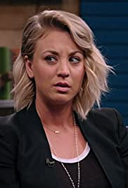 Kaley Cuoco Wears a Black Blazer and Slip on Sneakers Poster