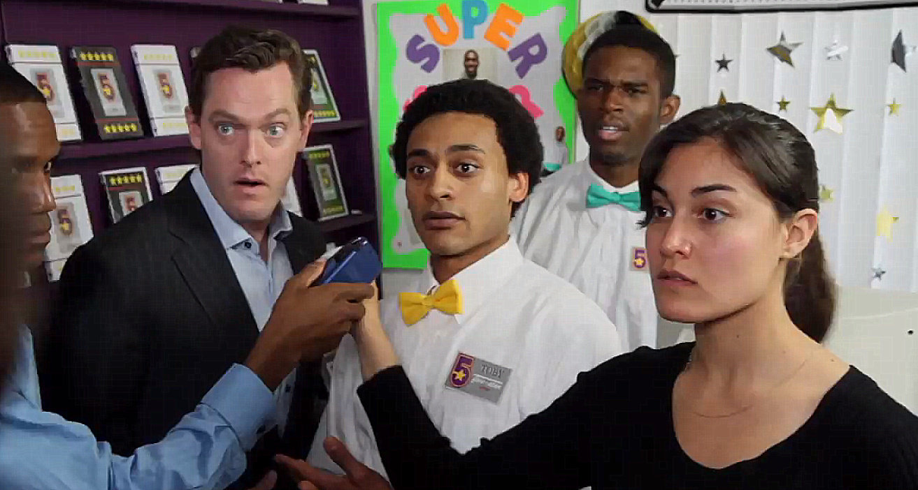 Bob Turton, Christopher Lamark, Mishell Livio, and Marcus Stewart in Toby Who? (2012)
