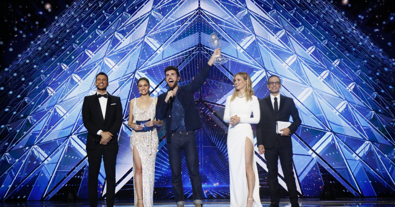 Erez Tal, Lucy Ayoub, Duncan Laurence, Assi Azar, and Bar Refaeli in Eurovision Song Contest Tel Aviv 2019 (2019)