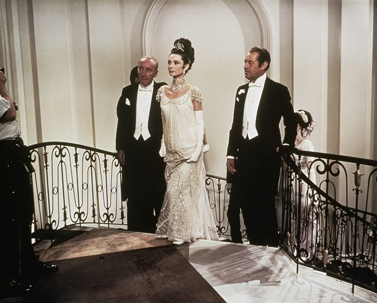 Audrey Hepburn, Rex Harrison, and Wilfrid Hyde-White in My Fair Lady (1964)