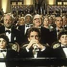 Bill Murray, Danny Glover, Gene Hackman, Anjelica Huston, Ben Stiller, Luke Wilson, Jonah Meyerson, and Grant Rosenmeyer in The Royal Tenenbaums (2001)