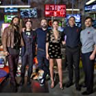Ben Affleck, Henry Cavill, Jason Momoa, Gal Gadot, Ezra Miller, and Ray Fisher in Justice League (2017)