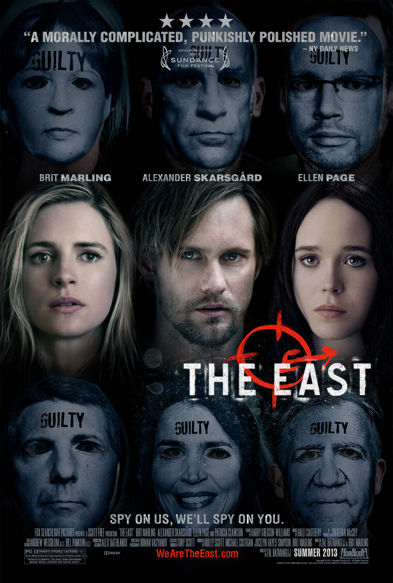 Alexander Skarsgård, Elliot Page, and Brit Marling in The East (2013)