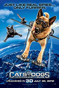 Christina Applegate, James Marsden, and Katt Williams in Cats & Dogs: The Revenge of Kitty Galore (2010)