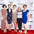 Miranda July, Jennifer Lafleur, Amber Sealey, Gemma Brockis, and Jade Sealey at the No Light And No Land Anywhere premiere at LA Film Festival