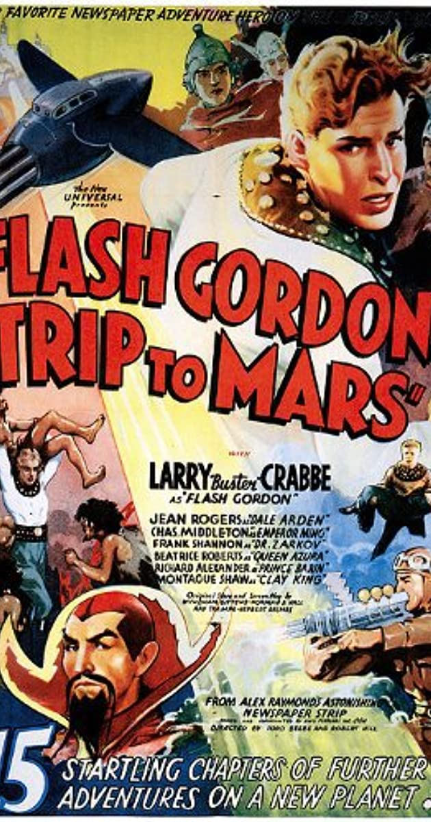 Larry Crabbe Flash Gordon vintage movie poster print #3