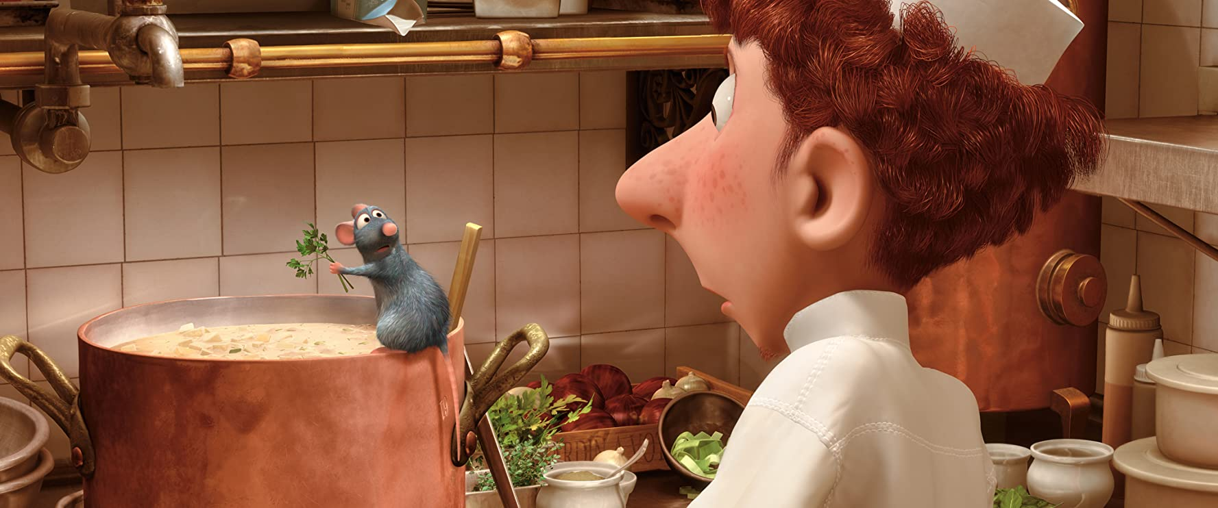 Patton Oswalt and Lou Romano in Ratatouille (2007)
