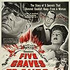 Anne Baxter, Erich von Stroheim, Fortunio Bonanova, Akim Tamiroff, and Franchot Tone in Five Graves to Cairo (1943)