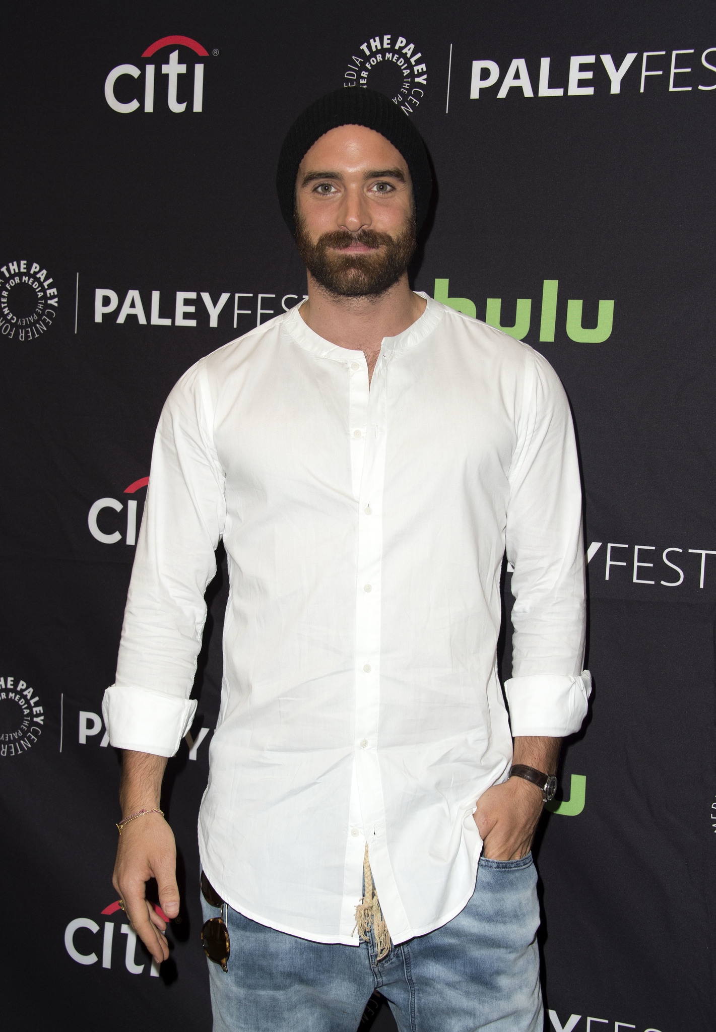 Joshua Sasse at an event for Galavant (2015)