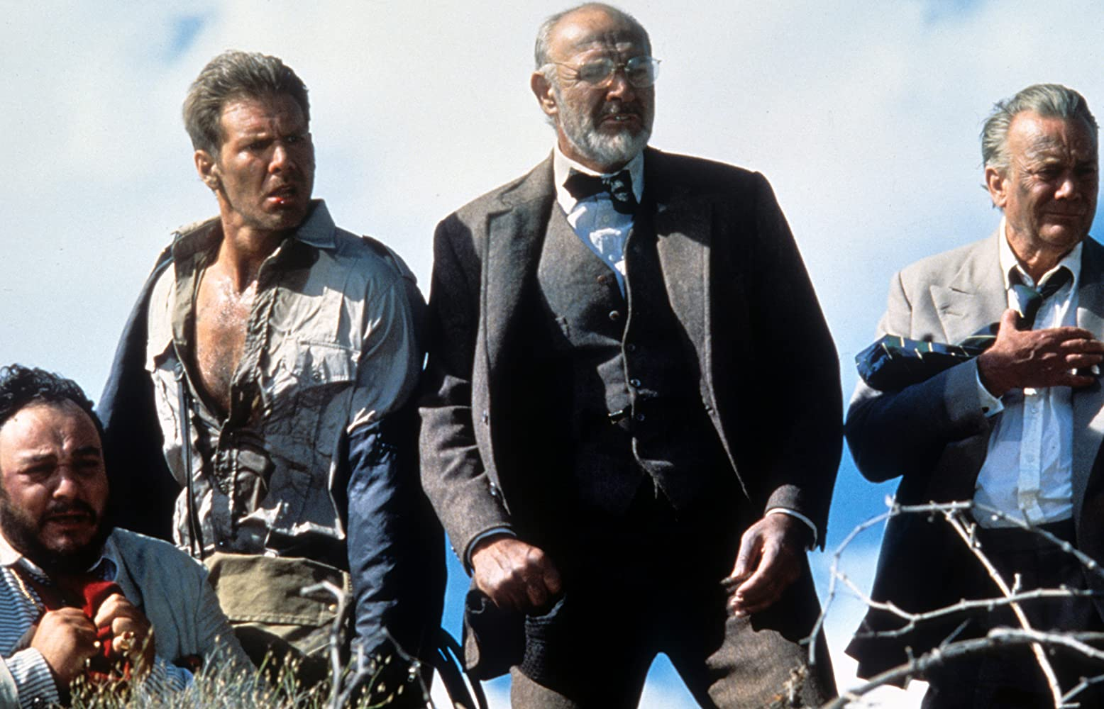 Sean Connery, Harrison Ford, Denholm Elliott, and John Rhys-Davies in Indiana Jones and the Last Crusade (1989)