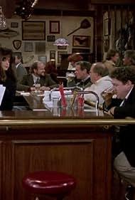 Kirstie Alley, Kelsey Grammer, George Wendt, Tim Cunningham, and Paul Willson in Cheers (1982)