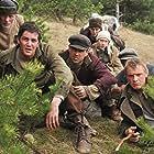 Ed Harris, Colin Farrell, Gustaf Skarsgård, Jim Sturgess, Saoirse Ronan, and Alexandru Potocean in The Way Back (2010)