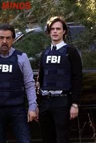 Joe Mantegna, Claudia Christian, John Posey, and Matthew Gray Gubler in Criminal Minds (2005)
