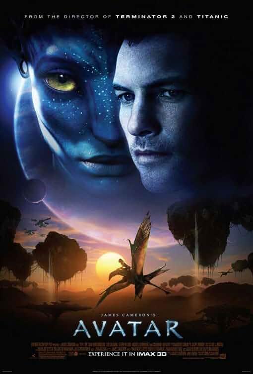 Zoe Saldana and Sam Worthington in Avatar (2009)