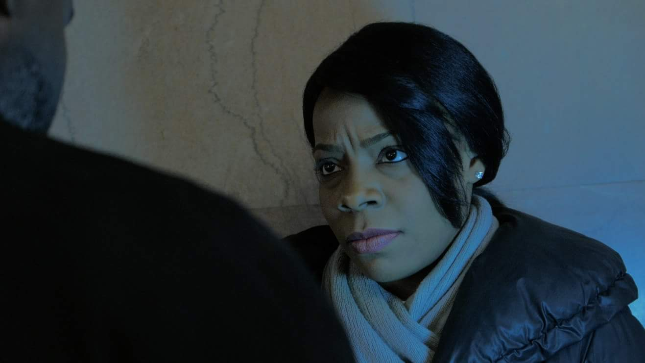Anita Nicole Brown as Andrea Knight on the set of Crisis Function: Awakening