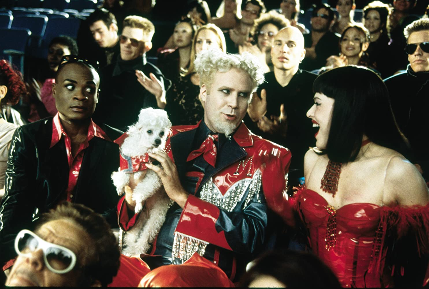 Milla Jovovich, Will Ferrell, and Nathan Lee Graham in Zoolander (2001)