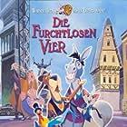 Mario Adorf, Dagmar Altrichter, Joachim Kemmer, and Oleta Adams in Die furchtlosen Vier (1997)