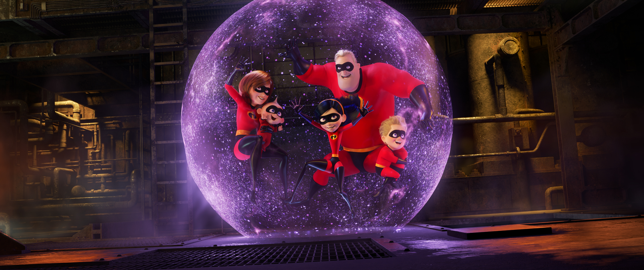 Holly Hunter, Craig T. Nelson, Sarah Vowell, Eli Fucile, and Huck Milner in Incredibles 2 (2018)