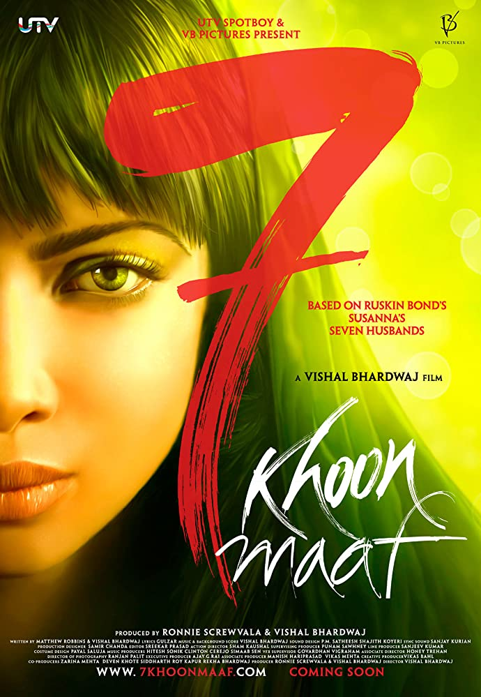 7 Khoon Maaf 2011 Hindi Movie 450MB HDRip Download