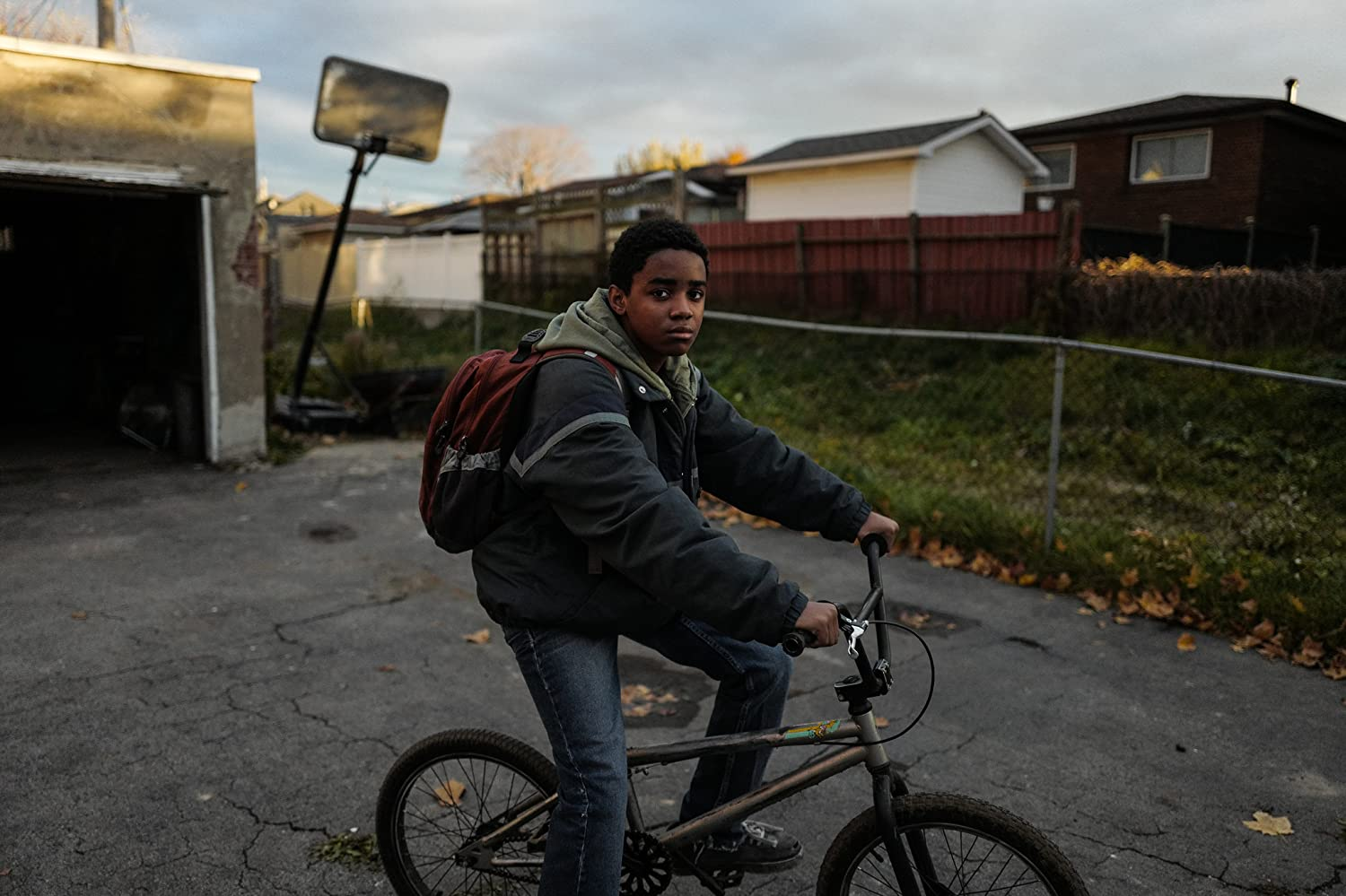 Myles Truitt plays Elijah, our young hero. As an adopted child with few friends, Eli is a bit of an outsider, and street smart enough to venture off into some pretty shady parts of Detroit by himself.  At the beginning of the film we learn that Eli's been suspended from school, but instead of waiting at home to get an earful from his father, he ventures out on his BMX to scour abandoned factories for scrap metal to sell.  As Jimmy later describes it, Eli's 'lemonade stand' on the side.