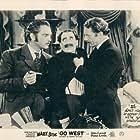 Groucho Marx, Robert Barrat, and Walter Woolf King in Go West (1940)
