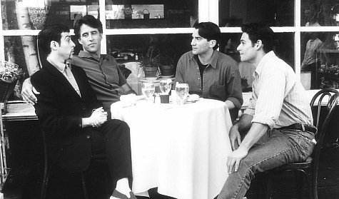 Anthony Barrile, David Deblinger, Christopher Lawford, and Nick Scotti in Kiss Me, Guido (1997)
