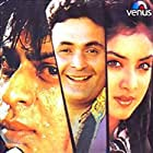 Divya Bharti, Rishi Kapoor, and Shah Rukh Khan in Deewana (1992)