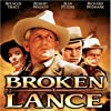 Spencer Tracy, Robert Wagner, Richard Widmark, and Jean Peters in Broken Lance (1954)