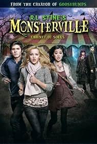 Braeden Lemasters, Tiffany Espensen, Katherine McNamara, Dove Cameron, and Ryan McCartan in R.L. Stine's Monsterville: Cabinet of Souls (2015)