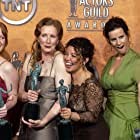 Lauren Ambrose, Frances Conroy, Rachel Griffiths, and Justina Machado at an event for 10th Annual Screen Actors Guild Awards (2004)