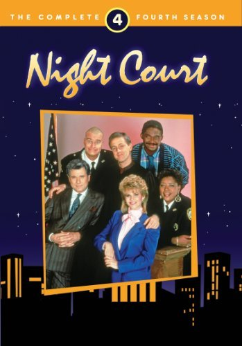 Harry Anderson, John Larroquette, Richard Moll, Markie Post, Charles Robinson, and Marsha Warfield in Night Court (1984)