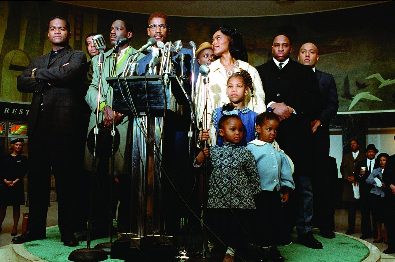 Denzel Washington and Angela Bassett in Malcolm X (1992)