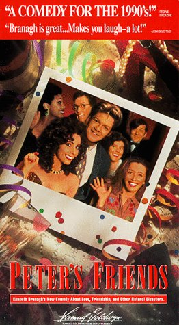 Kenneth Branagh, Stephen Fry, Emma Thompson, Imelda Staunton, Alphonsia Emmanuel, Hugh Laurie, and Rita Rudner in Peter's Friends (1992)
