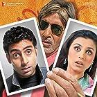 Amitabh Bachchan, Abhishek Bachchan, and Rani Mukerji in Bunty Aur Babli (2005)