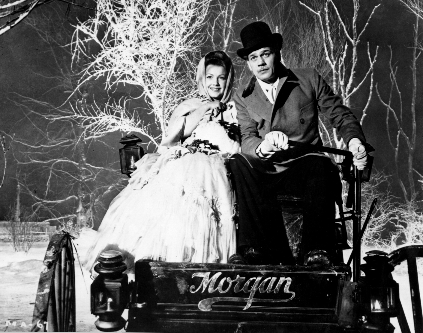 Anne Baxter and Joseph Cotten in The Magnificent Ambersons (1942)