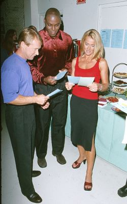Nadia Comaneci, Bart Conner, and Carl Lewis at an event for Hollywood Squares (1998)