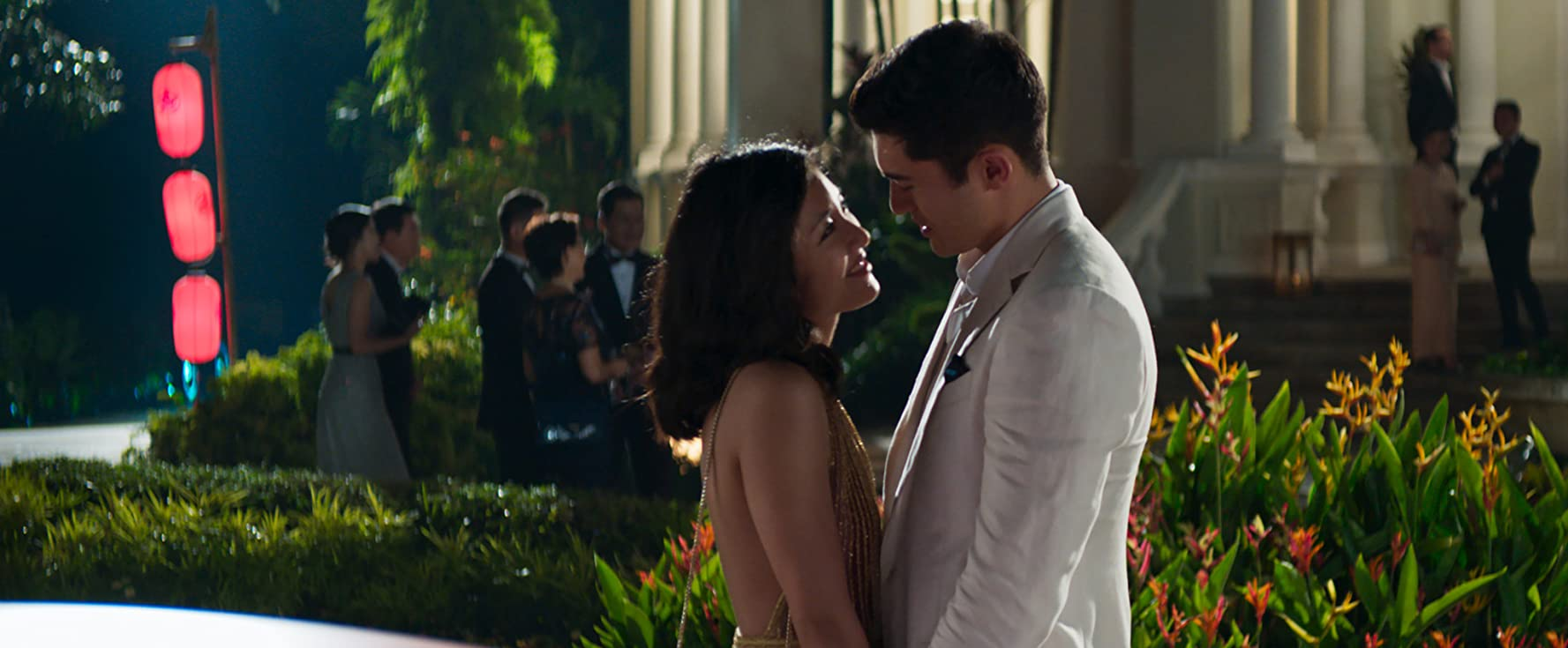 Constance Wu and Henry Golding in Crazy Rich Asians (2018)