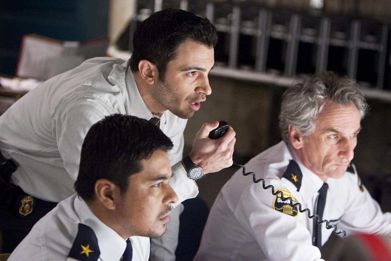 Matt Craven, Chris Messina, and Jacob Vargas in Devil (2010)