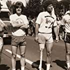 Robert Duvall, Chris Makepeace, Eric Fryer, and Michael Zelniker on set for The Terry Fox Story (1983)