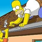 Nancy Cartwright and Dan Castellaneta in The Simpsons Movie (2007)