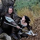 Kristen Stewart and Chris Hemsworth in Snow White and the Huntsman (2012)
